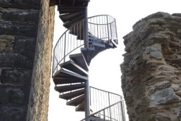 Burgruine Wernerseck Treppe