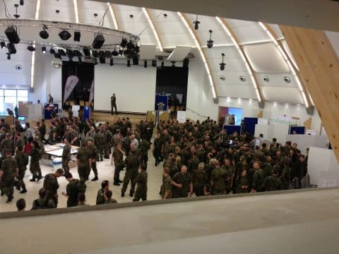 Veranstaltung der Bundeswehr