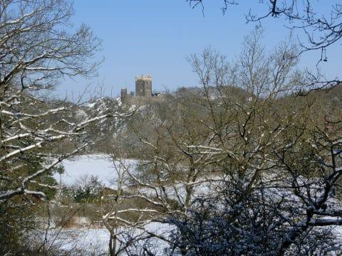 Burg Wernerseck im Winter